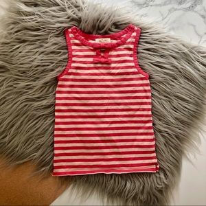 Kate Spade Girls Striped Tank with Bows in Pink